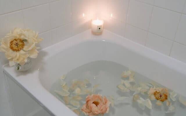 お風呂の中でミラブルを使用する