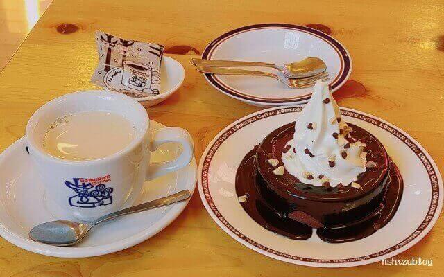 コメダ珈琲の「デザートセット」で頂きました。